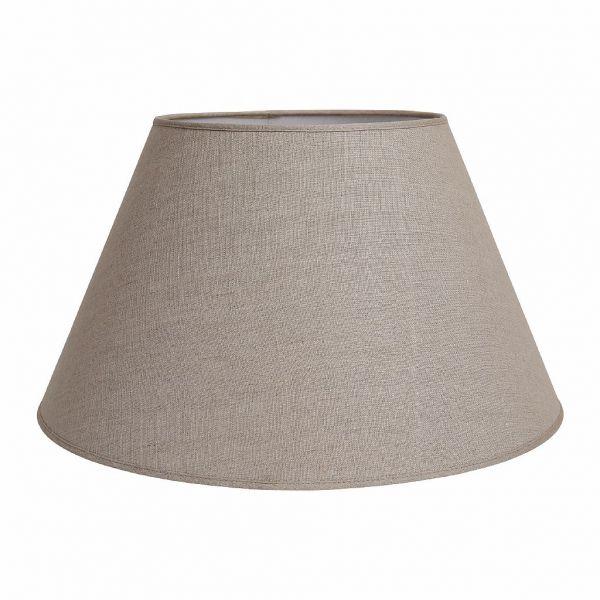 АБАЖУР, COMPTOIR DE FAMILLE,  LAMP SHADE XL TOILEDELIN BEIGE D55XH33CM LINEN+PVC, АРТИКУЛ 127960