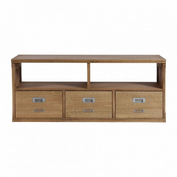 ТУМБА ПОД ТВ, COMPTOIR DE FAMILLE,  TV FURNITURE FIRMIN NAT 110X41.5XH45 PLANE TREE, АРТИКУЛ 144450