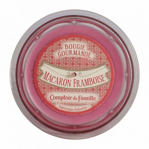 СВЕЧА, COMPTOIR DE FAMILLE,  CANDLE MACARON FRAMBOISE GOURMANDE PINK D12XH8, АРТИКУЛ 151480