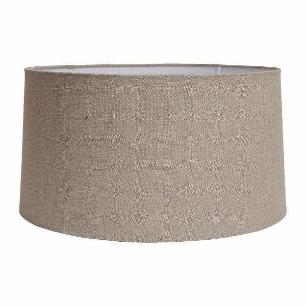 АБАЖУР, COMPTOIR DE FAMILLE,  LAMP SHADE DRUM TOILEDELIN CREAM D46XH24 LINEN+PVC, АРТИКУЛ 153230