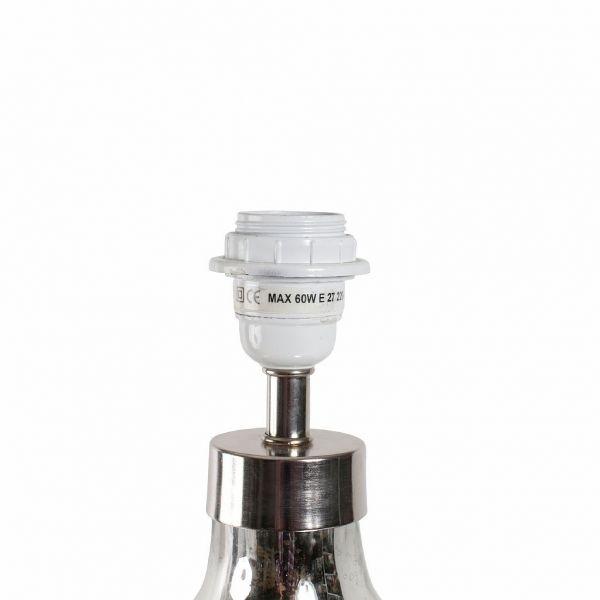 ЛАМПА НАСТОЛЬНАЯ, COMPTOIR DE FAMILLE,  LAMP BASE HERMIONE GREY D27XH42CM GLASS, АРТИКУЛ 153260