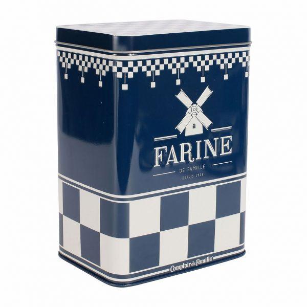 НАБОР БАНОК 4 ШТ., COMPTOIR DE FAMILLE,  NESTED BOXES X4 METAL BLUE H18+H16+H14+H12 IRON, АРТИКУЛ 155360