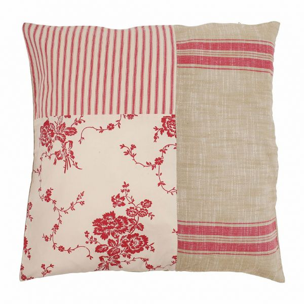 ПОДУШКА  , COMPTOIR DE FAMILLE,  CUSHION SOLOGNE RED 50X50CM COTTON+POLYESTER, АРТИКУЛ 156400