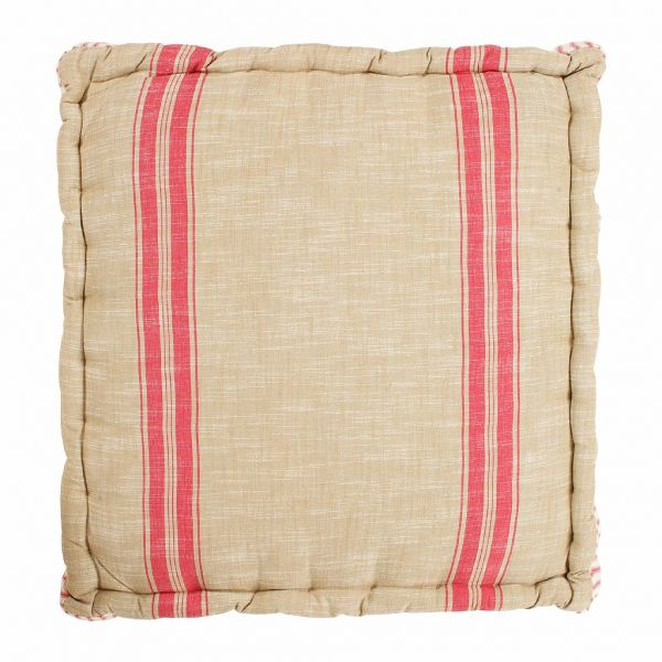 ПОДУШКА  , COMPTOIR DE FAMILLE,  CUSHION SOLOGNE RED 60X61XH12CM COTTON+POLYESTER, АРТИКУЛ 156430