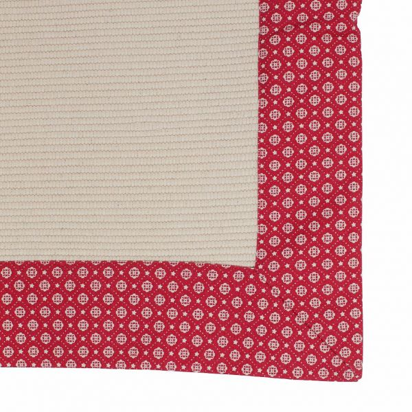 КОВРИК, COMPTOIR DE FAMILLE,  RUG PETIT POINT RED+BEIGE 50X80CM COTTON, АРТИКУЛ 160830