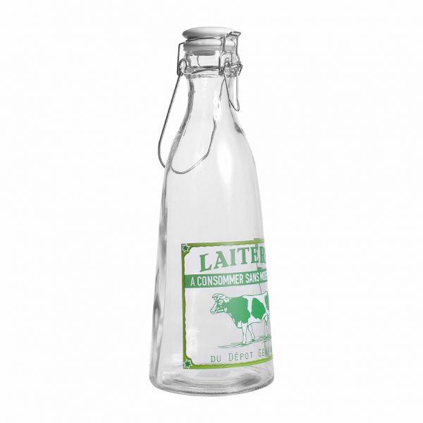 БУТЫЛКА ДЛЯ МОЛОКА, COMPTOIR DE FAMILLE,  BOTTLE LAITERIE BOUT-CAR 1L GLASS, АРТИКУЛ 162270