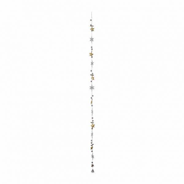 ГИРЛЯНДА, COMPTOIR DE FAMILLE,  SNOWFLAKE GARLAND CF-NOE SILVER 4X140CM METAL, АРТИКУЛ 163410