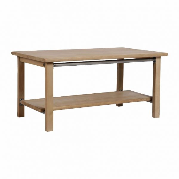 КОФЕЙНЫЙ СТОЛ, COMPTOIR DE FAMILLE,  COFFEE TABLE CONTREMAITRE NAT100X60XH48 CEDAR+IRON, АРТИКУЛ 166280