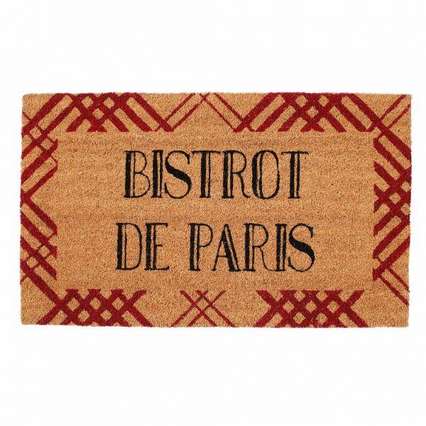 КОВРИК ПРИДВЕРНЫЙ, COMPTOIR DE FAMILLE,  DOORMAT BISTROT PARIS 73X43CM COIR+PVC, АРТИКУЛ 200144