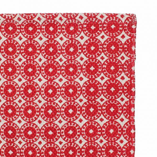 КОВРИК, COMPTOIR DE FAMILLE,  SMALL CARPET CAMPAGNE RED 80X50CM COTTON, АРТИКУЛ 200288