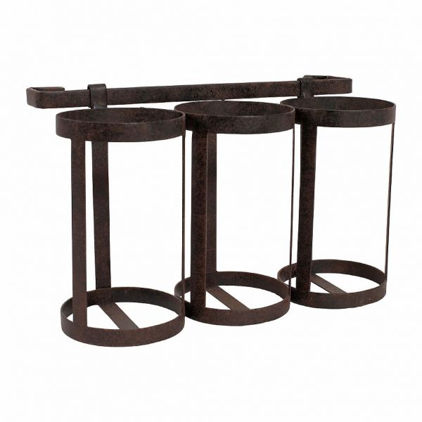 ПОДСТАВКА ДЛЯ БУТЫЛОК, COMPTOIR DE FAMILLE,  BOTTLE-HOLDER 3 BOTTL FONTNEL BLACK 64X15XH20 IRON, АРТИКУЛ 200293