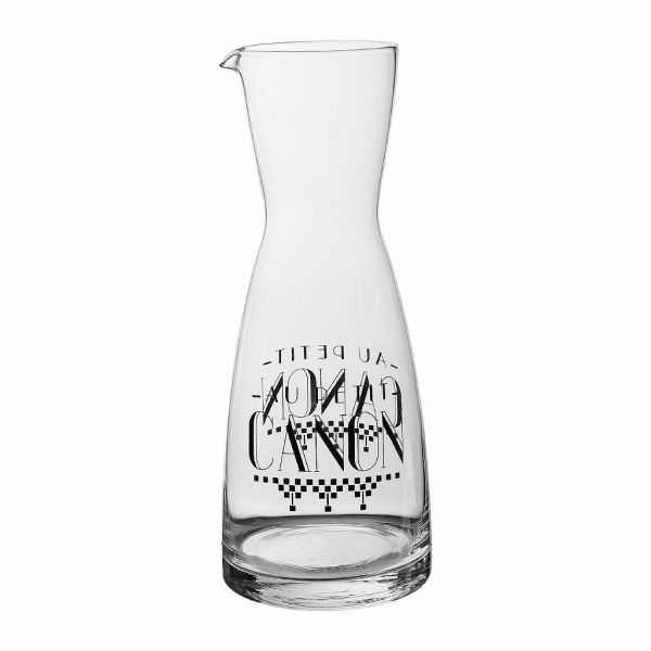 ГРАФИН, СТЕКЛО., COMPTOIR DE FAMILLE,  DECANTER DAMIER BLACK D9XH25.5CM GLASS, АРТИКУЛ 200298