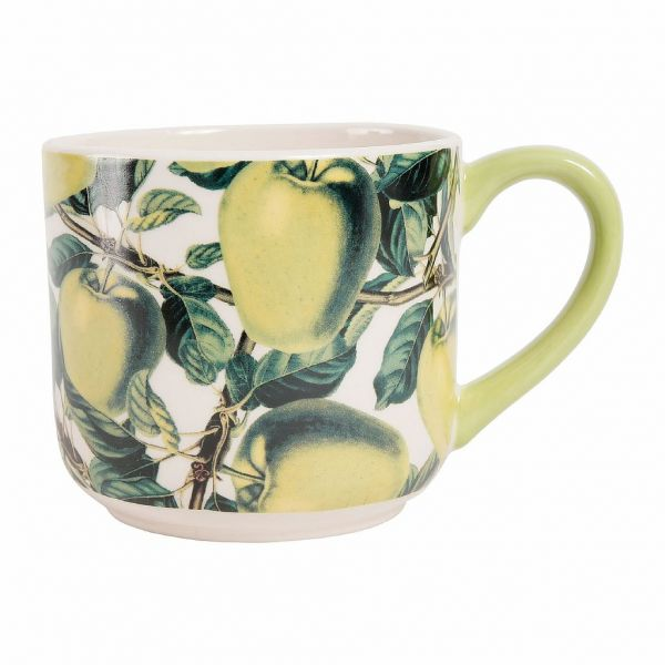 ЧАШКА ДЛЯ ЗАВТРАКА, COMPTOIR DE FAMILLE,  BREAKFAST CUP APPLE TARTINE YELLOW 1L STONEWARE, АРТИКУЛ 200323
