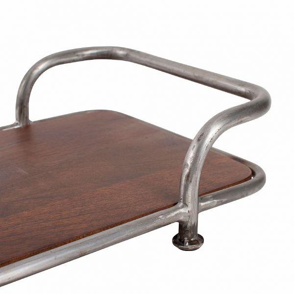 200365 Поднос на ножках, массив дерева манго, металл 46.5X28.5X10 CM, Comptoir De Famille