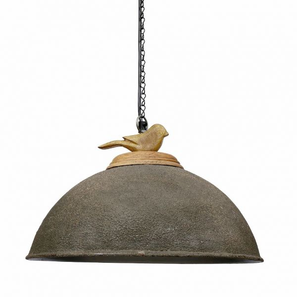 ЛАМПА ПОДВЕСНАЯ, COMPTOIR DE FAMILLE,  CEILING LAMP LISON BROWN D41X29CM MANGO WOOD+FER, АРТИКУЛ 200424