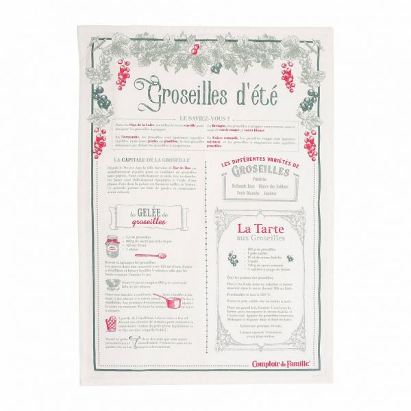 КУХОННОЕ ПОЛОТЕНЦЕ, COMPTOIR DE FAMILLE,  KITCHEN TOWEL W/JAR GROSEILL TOR-COLLEC GREY 50X70, АРТИКУЛ 200457
