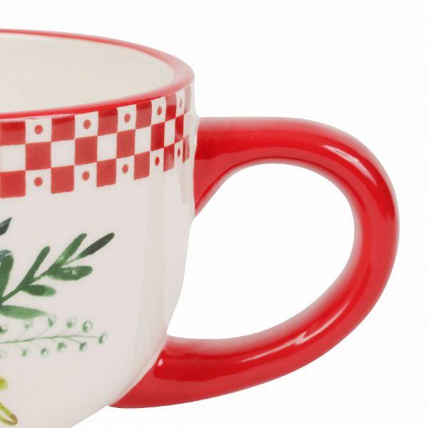 ЧАШКА ДЛЯ ЗАВТРАКА, COMPTOIR DE FAMILLE,  BREAKFAST CUP BLANDINE RED 65CL-D12.5X8.5 DOLOMITE, АРТИКУЛ 200473