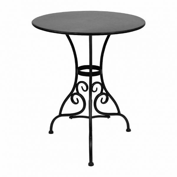СТОЛ, COMPTOIR DE FAMILLE,  TABLE VOLUTES BROWN D71XH75CM IRON, АРТИКУЛ 200518