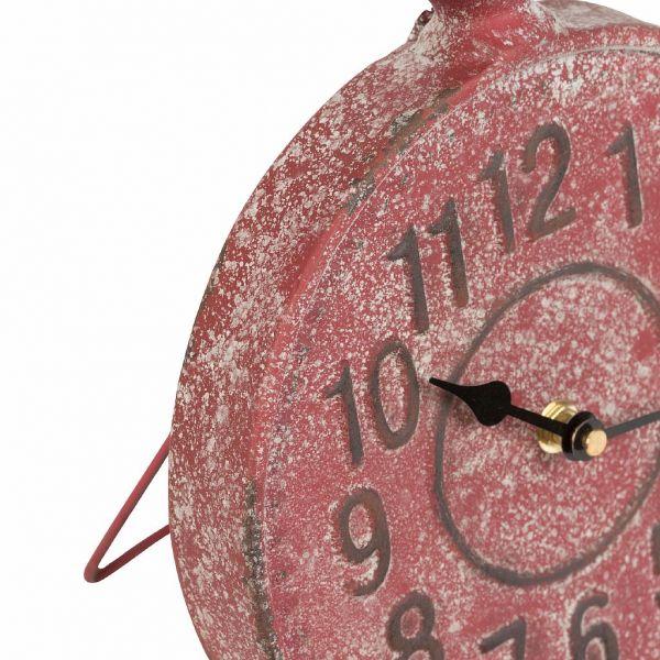 ЧАСЫ, COMPTOIR DE FAMILLE,  CLOCK CADRAN RED 20.5X5XH28.5CM IRON, АРТИКУЛ 200530