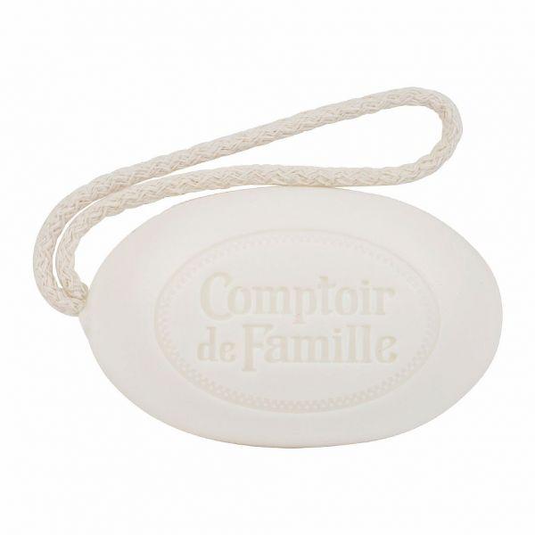 МЫЛО, COMPTOIR DE FAMILLE,  VINE PEACH SOAP W/ROPE VERGER WHITE 200G-10.5X6.5, АРТИКУЛ 200576