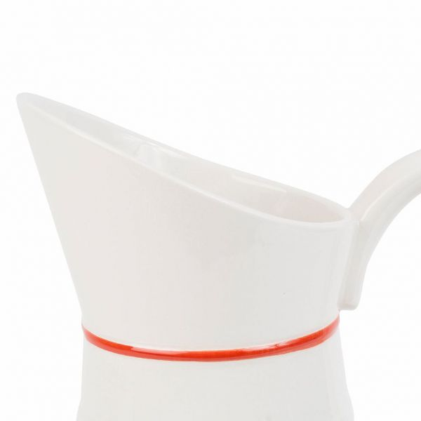 КУВШИН, COMPTOIR DE FAMILLE,  PITCHER GASTON RED+WHITE 1.3L-19X13XH26CM DOLOMITE, АРТИКУЛ 200679