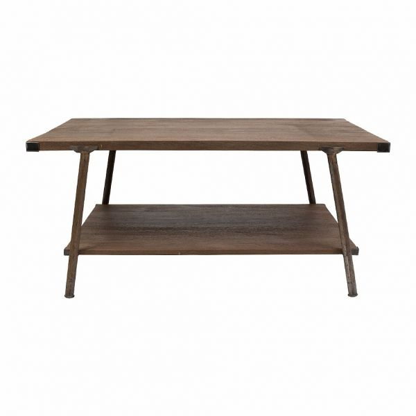КОФЕЙНЫЙ СТОЛ, COMPTOIR DE FAMILLE,  COFFEE TABLE GASTON NATURAL 100X60XH45 IRON+MANGO, АРТИКУЛ 200724