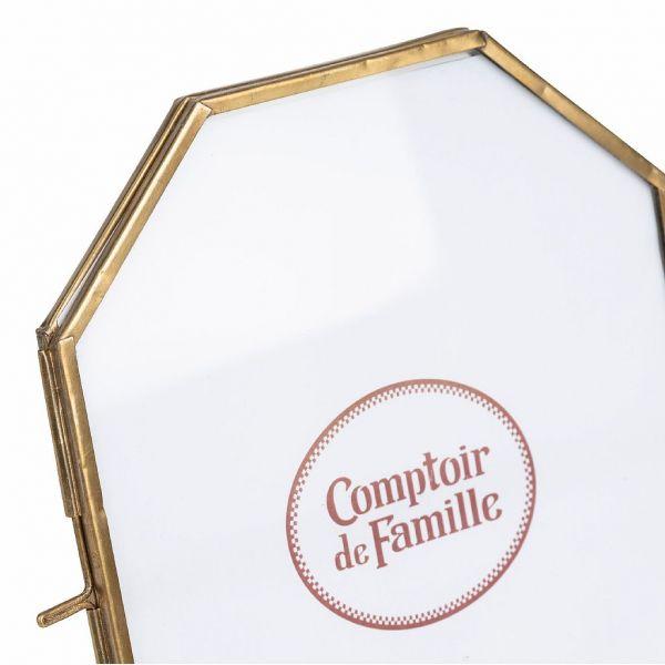 ФОТОРАМКА, COMPTOIR DE FAMILLE,  PHOTO FRAME FLEURLYS ANTIQU GOLD 14X18 BRASS+GLASS, АРТИКУЛ 200866