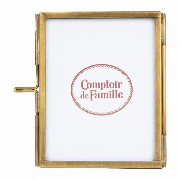 ФОТОРАМКА, COMPTOIR DE FAMILLE,  PHOTO FRAME FLEURLYS ANTIQUE GOLD 7X9 BRASS+GLASS, АРТИКУЛ 200871