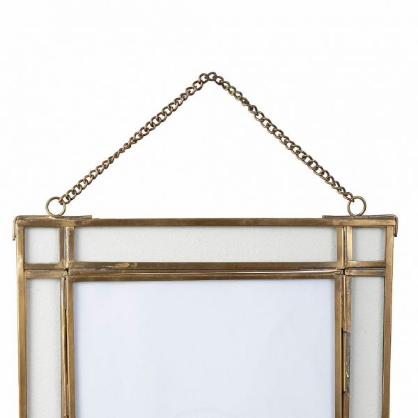 ФОТОРАМКА, COMPTOIR DE FAMILLE,  PHOTO FRAME FLEURLYS ANTIQU GOLD 20X26 BRASS+GLASS, АРТИКУЛ 200874