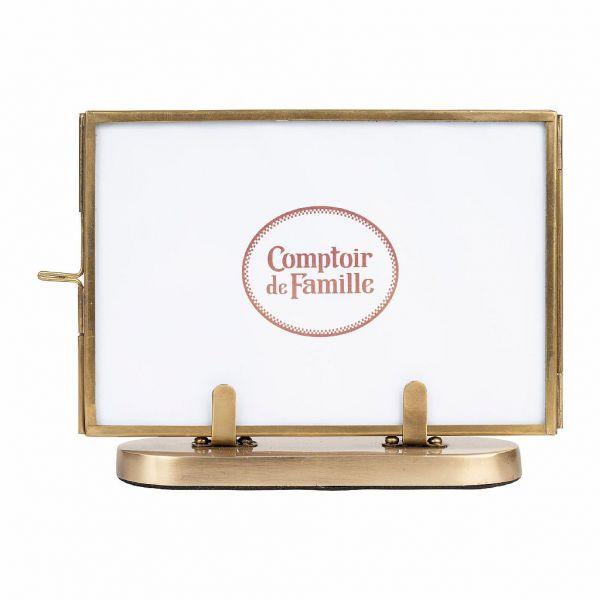 ФОТОРАМКА, COMPTOIR DE FAMILLE,  PHOTO FRAME FLEURLYS ANTIQUE GOLD 16X11 BRASS+IRON, АРТИКУЛ 200879