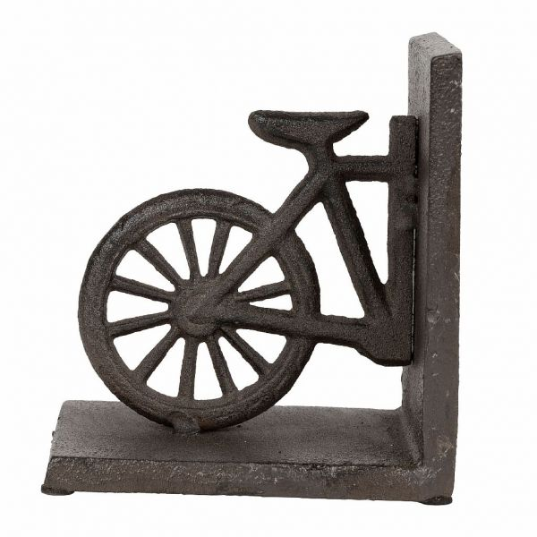 ПОДСТАВКА ДЛЯ КНИГ, COMPTOIR DE FAMILLE,  BOOKENDS L+R BICYCLE CAMPAGNE BRWN 24H13 CAST IRON, АРТИКУЛ 200927