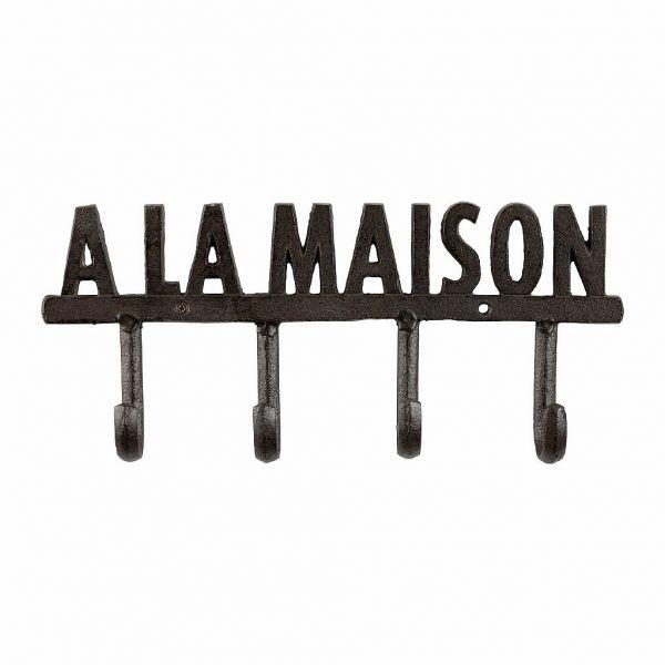 "ВЕШАЛКА, COMPTOIR DE FAMILLE,  COAT RACK 4H""MAISON"" MINRAI BROWN 29X13 CAST IRON, АРТИКУЛ 200932"