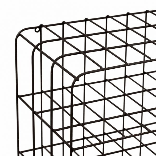 ПОЛКА, COMPTOIR DE FAMILLE,  WALL SHELF CAMPAGNE BROWN 40X24.5XH40CM IRON, АРТИКУЛ 200961