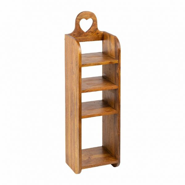 ПОЛОЧКА ДЛЯ СПЕЦИЙ, COMPTOIR DE FAMILLE,  SPICE WALL SHELF GASTON DARK 25X20H80 ACACIA WOOD, АРТИКУЛ 201008