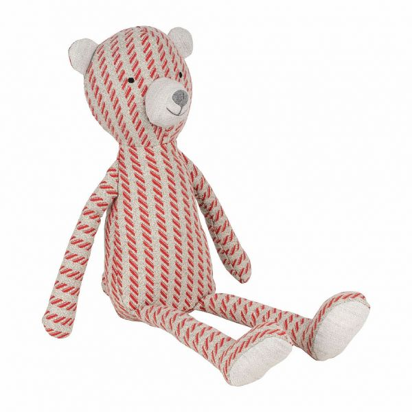 ДЕКОР, COMPTOIR DE FAMILLE,  DECO TEDDY BEAR GONTRAN RED H50CM POLYESTER+COTTON, АРТИКУЛ 201025