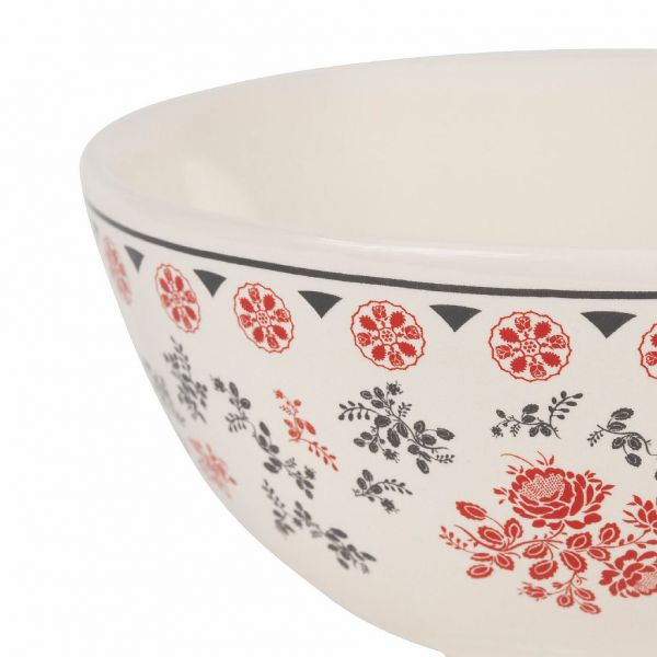 ПИАЛА, COMPTOIR DE FAMILLE,  BOWL ROSETTE COLLECTION RED 75CL EARTHENWARE, АРТИКУЛ 201030