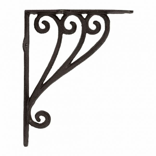 КРОНШТЕЙН ДЛЯ ПОЛКИ, COMPTOIR DE FAMILLE,  BRACKET FOR SHELF CAMPAGNE BROWN 23.5X18 CAST IRON, АРТИКУЛ 201185