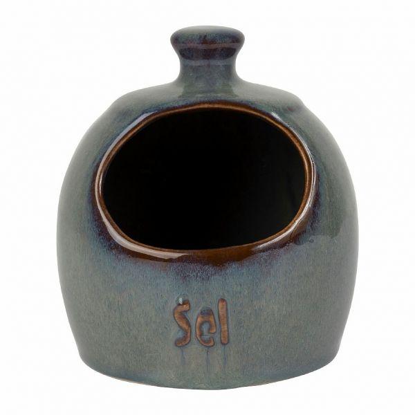 СОЛОНКА, COMPTOIR DE FAMILLE,  SALTCELLAR SUZANNE BLUE+GREEN D11XH14CM STONEWARE, АРТИКУЛ 201234
