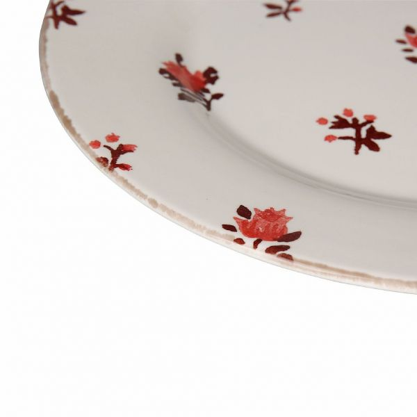 ТАРЕЛКА, COMPTOIR DE FAMILLE,  DINNER PLAT BELLE SAIS RED 26.6X26.6X2.5CM EARTH, АРТИКУЛ 201247