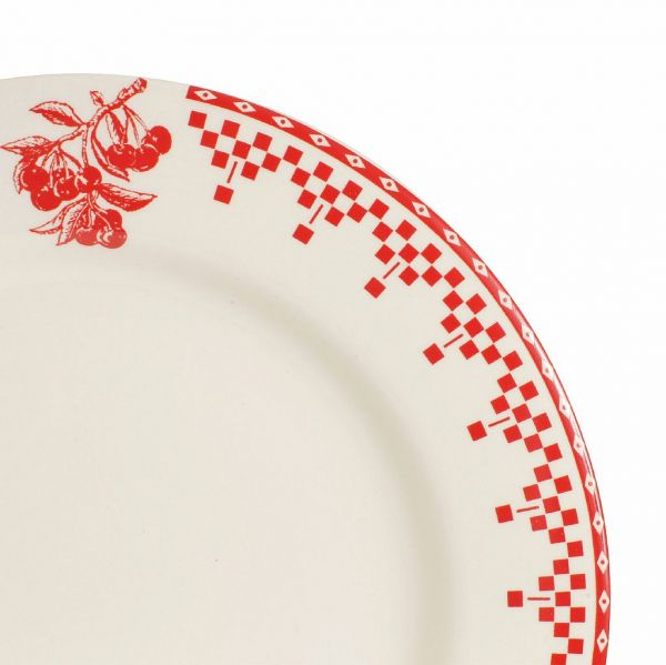 ТАРЕЛКА, COMPTOIR DE FAMILLE,  DINNER PLATE DAMIER RED D27CM EARTHENWARE, АРТИКУЛ 2363