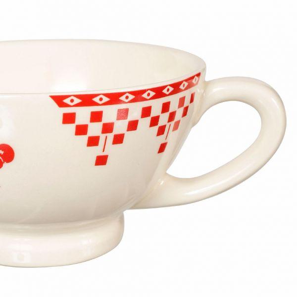 КРУЖКА, COMPTOIR DE FAMILLE,  JUMBO CUP DAMIER RED 45CL EARTHENWARE, АРТИКУЛ 2370