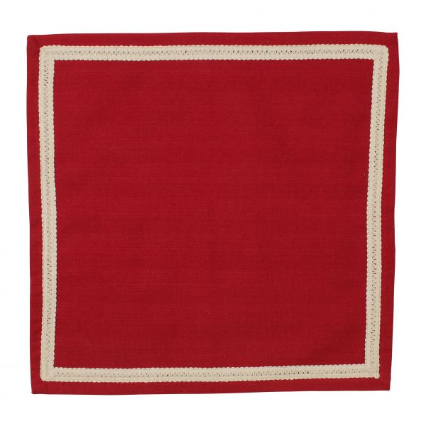САЛФЕТКА, COMPTOIR DE FAMILLE,  NAPKIN MAMI CARREAU RED 40X40CM COTTON, АРТИКУЛ 3953