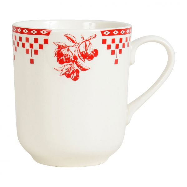 КРУЖКА, COMPTOIR DE FAMILLE,  HIGH CUP DAMIER RED 34.5CL EARTHENWARE, АРТИКУЛ 5716