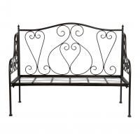 БАНКЕТКА ЗАВИТОК, COMPTOIR DE FAMILLE,  BENCH VOLUTE BROWN 123X60XH94CM IRON, АРТИКУЛ 699