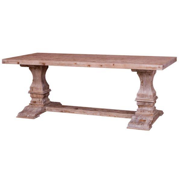 СТОЛ ПРЯМОУГОЛЬНЫЙ Colonial pillar leg dining table 210 x 90*78 СМ., pine top АРТ.GR576