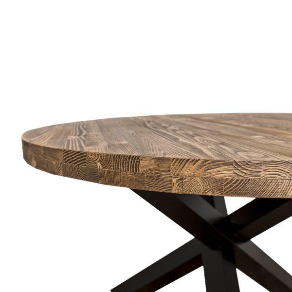 СТОЛ КУРГЛЫЙ 130*130*78 СМ, X-Y base dining table АРТ.GR677