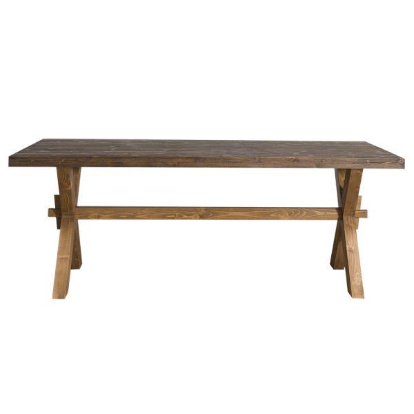 СТОЛ ПРЯМОУГОЛЬНЫЙ 210*90*78 СМ,  X base dining table АРТ.GR678
